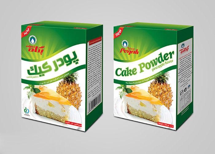 بسته بندی پودر کیک با طعم آناناس پگاه تهران