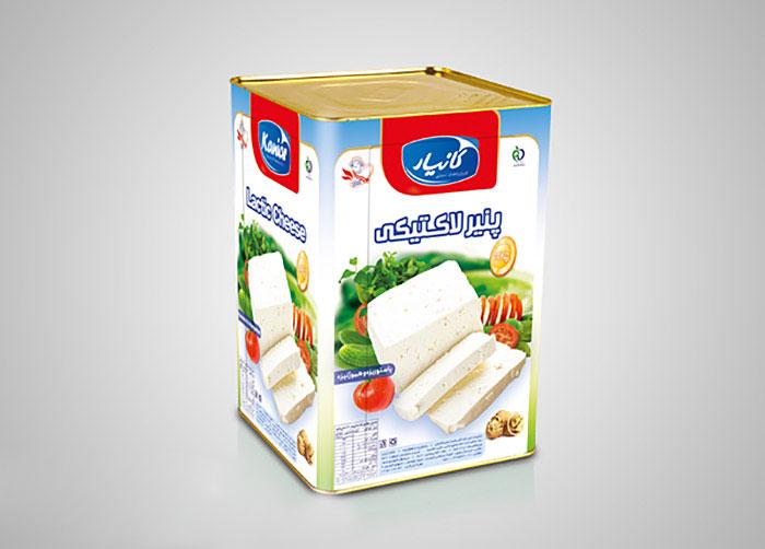 بسته بندی حلب 14کیلویی پنیر لاکتیکی کانیار