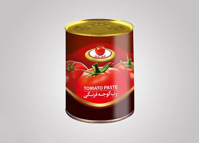 لیبل رب گوجه فرنگی تمدن