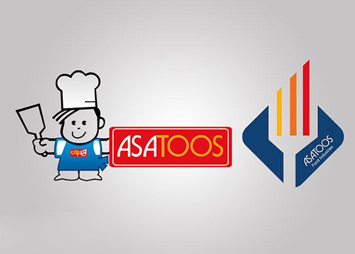 لوگو و کاراکتر مواد غذایی آسا توس