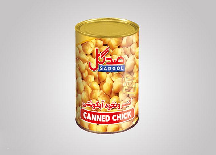 لیبل کنسرو نخود آبگوشتی صدگل