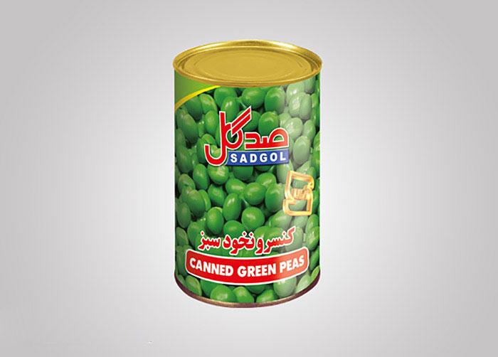 لیبل کنسرو نخود سبز صدگل