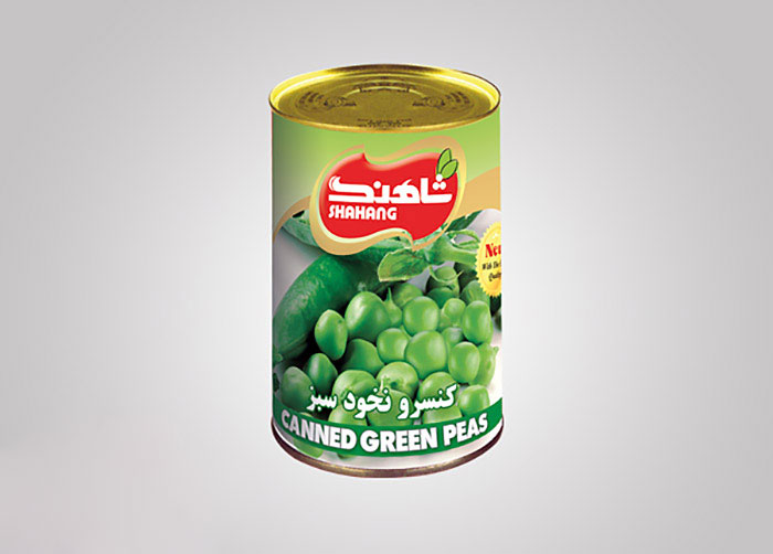 لیبل کنسرو نخود سبز شاهنگ