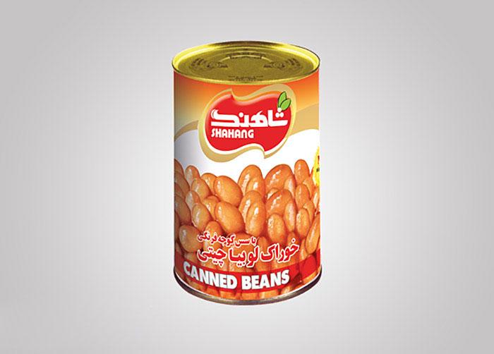 لیبل خوراک لوبیاچیتی شاهنگ