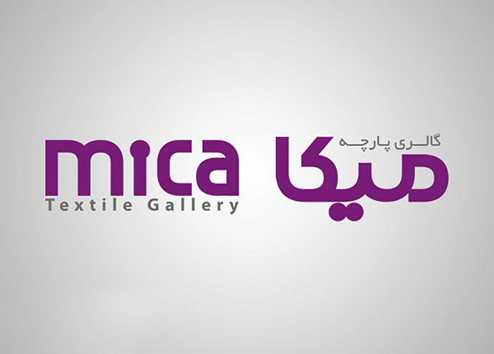 لوگوی گالری پارچه میکا