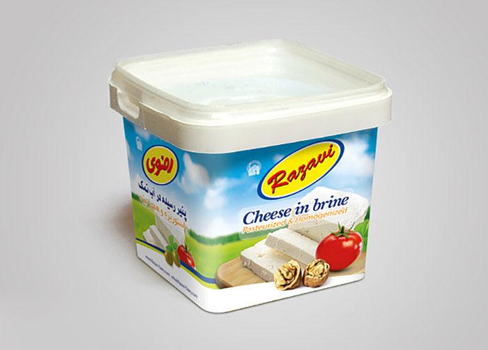 بسته بندی پنیر رسیده در آب نمک رضوی