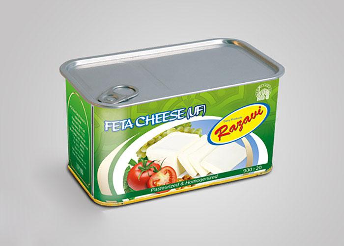بسته بندی پنیر سفید فراورده های لبنی رضوی