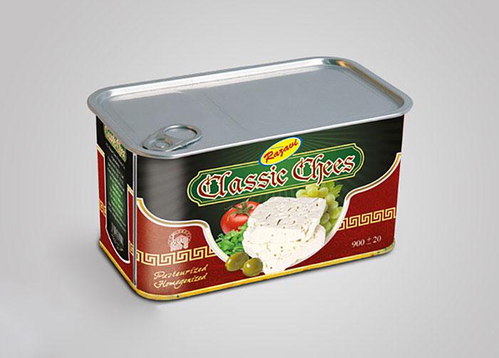 بسته بندی پنیر کلاسیک فراورده های لبنی رضوی