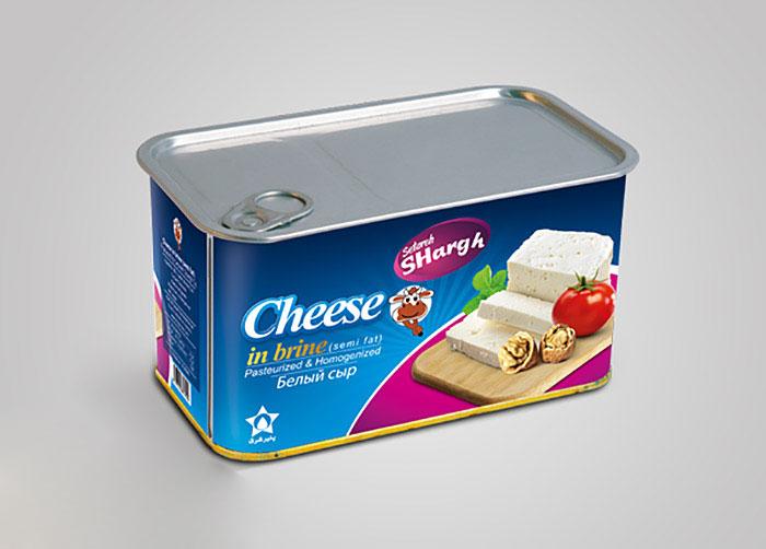 بسته بندی پنیر رسیده در آب نمک ستاره شرق