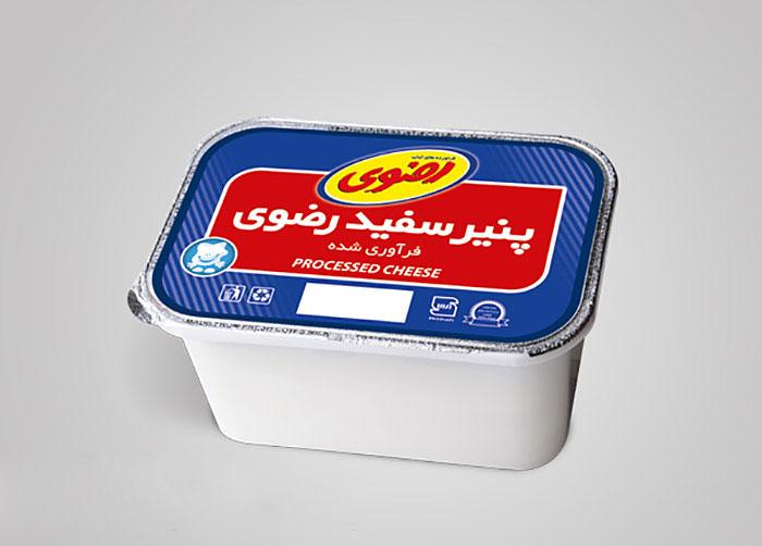 فویل پنیر سفید فراورده های لبنی رضوی