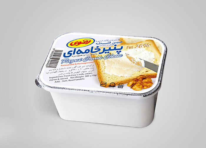 فویل پنیر خامه ای فراورده های لبنی رضوی