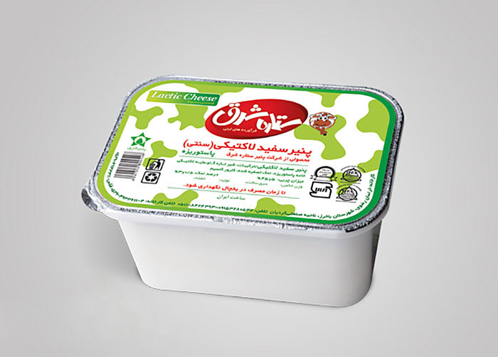 فویل پنیر سفید لاکتیکی ستاره شرق