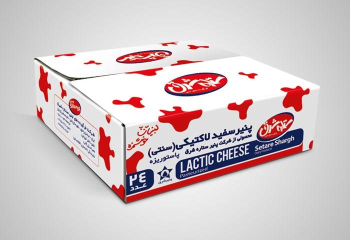 طراحی کارتن مادر پنیر سفید لاکتیکی(سنتی)ستاره شرق