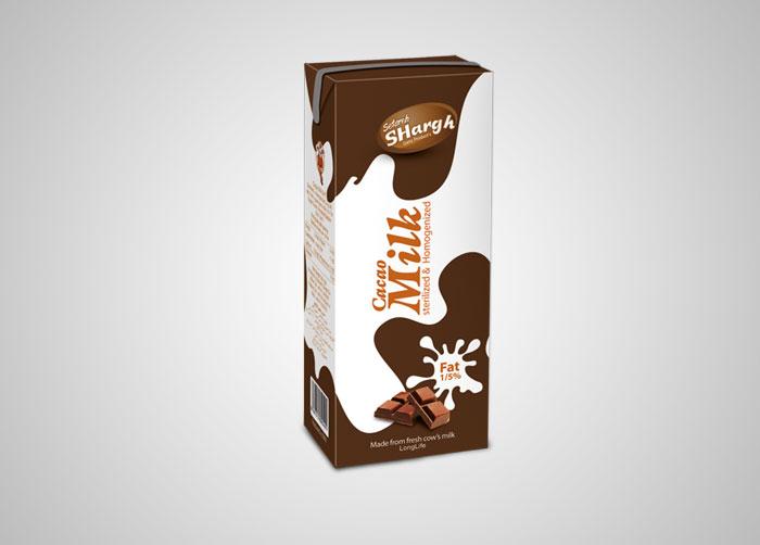 طراحی بسته بندی شیرکاکائو استریل ستاره شرق