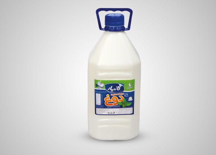لیبل دوغ بطری 4کیلویی کانیار