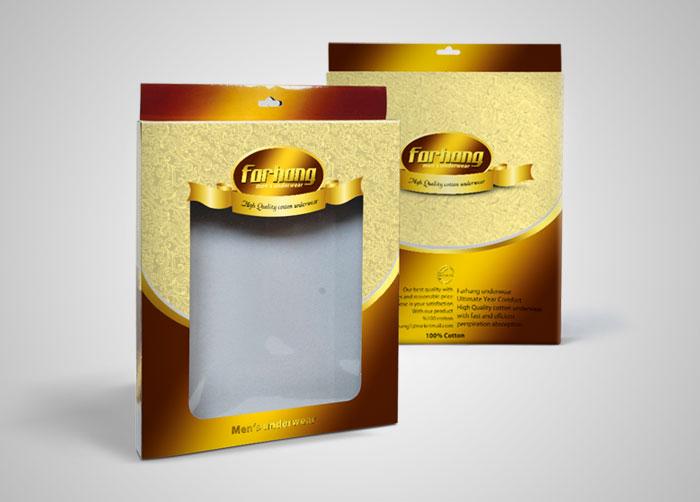 طراحی جعبه بسته بندی لباس زیر فرهنگ
