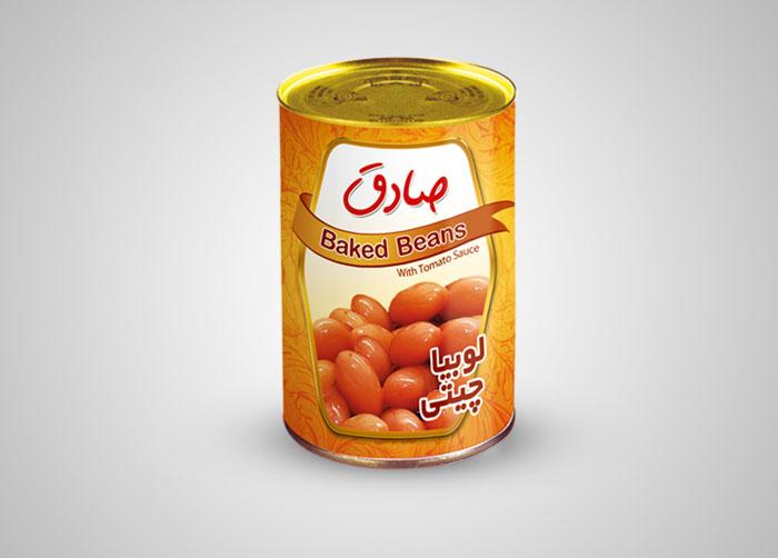 طراحی خوراک لوبیاچیتی صادق