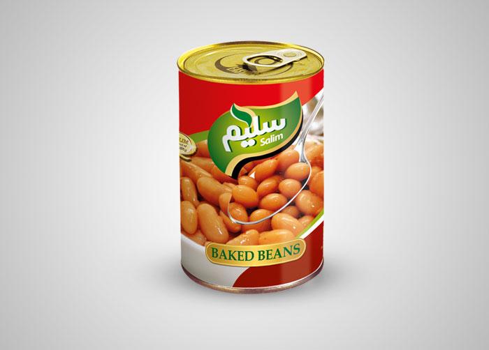 طراحی لیبل خوراک لوبیا سلیم