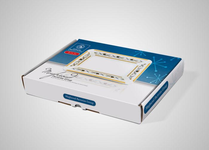 طراحی بسته بندی جعبه کره خوری چینی مقصود