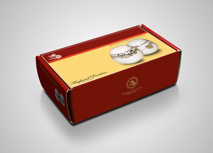 طراحی بسته بندی جعبه ست نمکپاش چینی مقصود