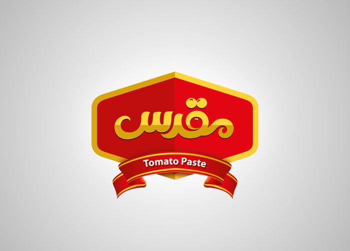 طراحی نشان تجاری رب گوجه فرنگی مقدس