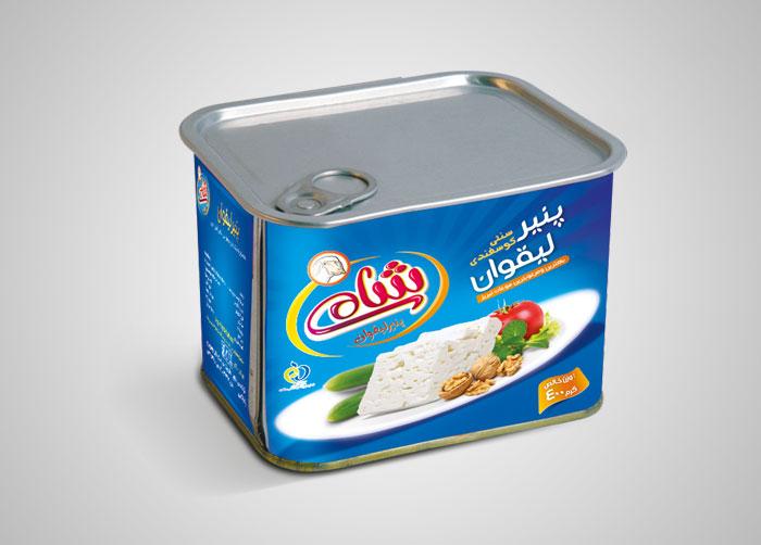 بسته بندی پنیر لیقوان شامی