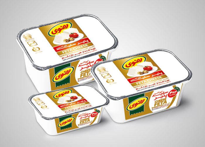 بسته بندی پنیر سفید رضوی