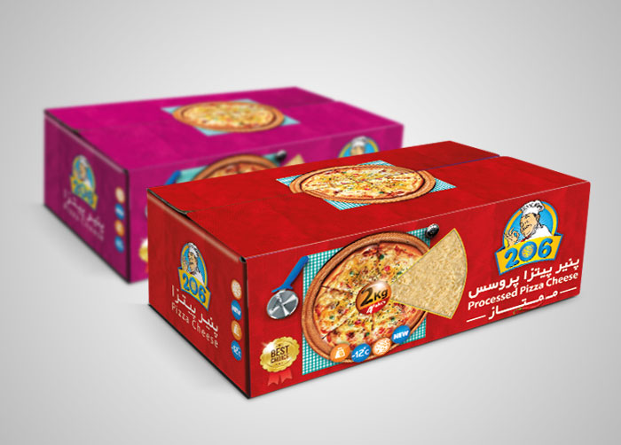 طراحی کارتن مادر لمینتی پنیر پیتزا پروسس ممتاز 206