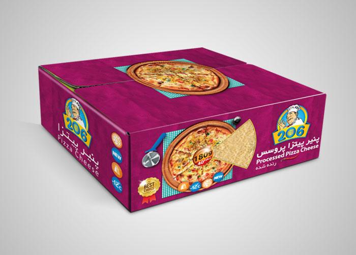 طراحی کارتن مادر لمینتی پنیر پیتزا پروسس 206
