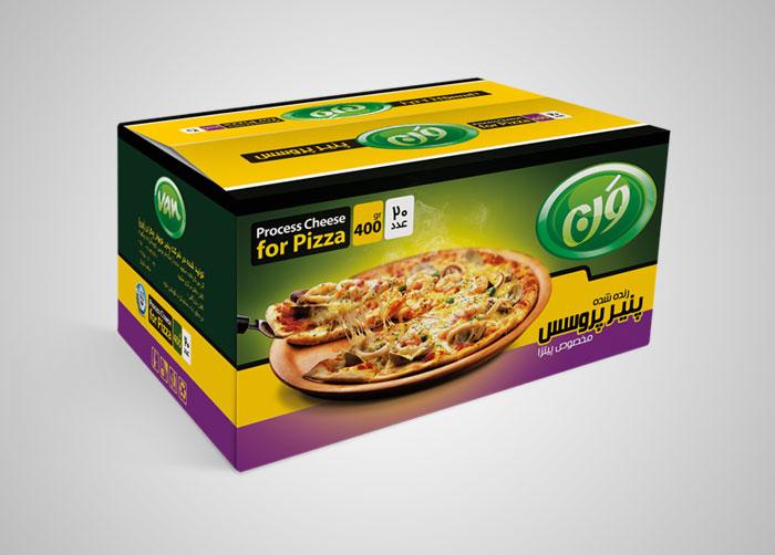 طراحی کارتن مادر پنیر پروسس مخصوص پیتزا ون