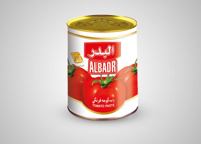 طراحی لیبل رب گوجه فرنگی البدر