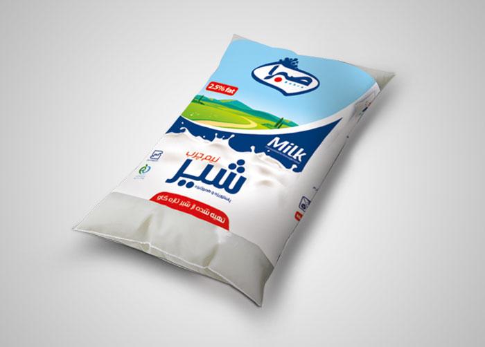 بسته بندی شیر پری پک صبرا