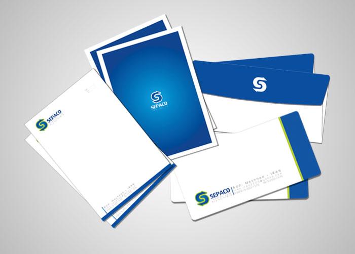 طراحی ست اوراق اداری شرکت بازرگانی سپاکو