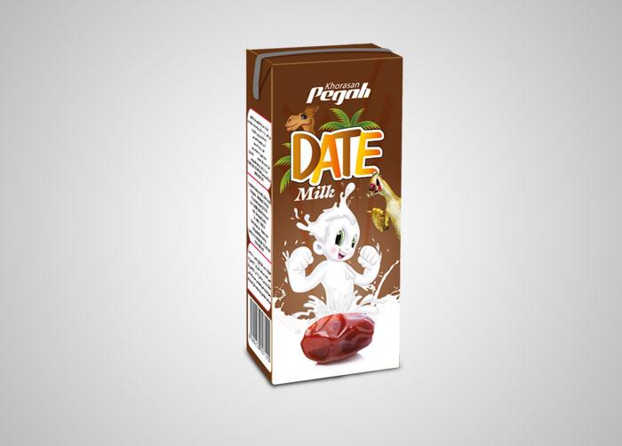 طراحی بسته بندی شیر خرما استریل پگاه خراسان