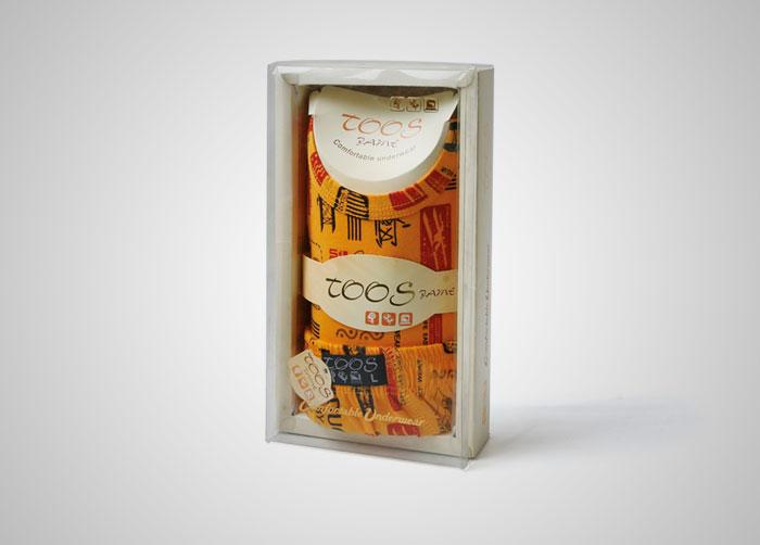 طراحی بسته بندی جعبه ست شورت و زیرپوش توس جامه