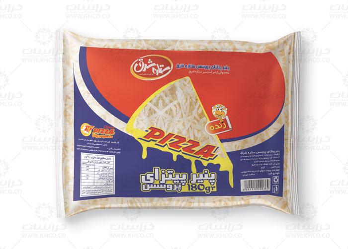 طراحی لفاف بسته بندی پنیر پیتزا ستاره شرق
