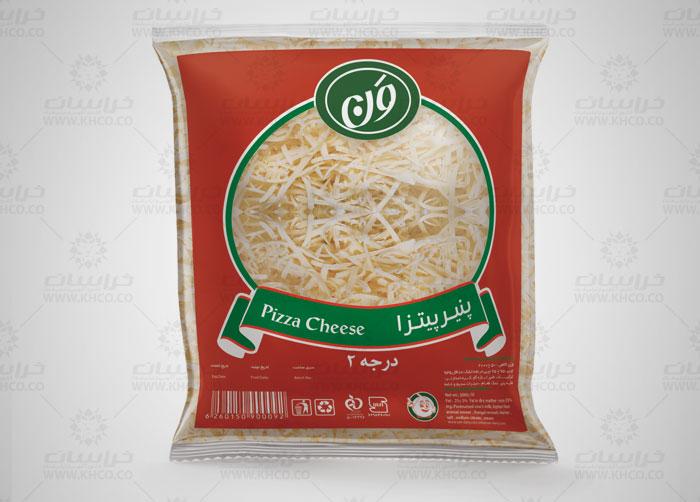 طراحی بسته بندی لفاف پنیر پیتزا ون