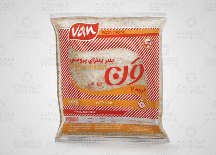 طراحی بسته بندی لفاف پنیر پیتزا پروسس ون