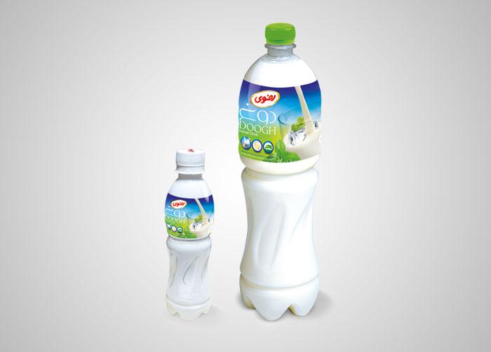 طراحی لیبل بطری دوغ1/5لیتری و 250سی سی رضوی