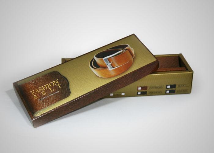 طراحی بسته بندی جعبه مقوایی کمربند IMDER