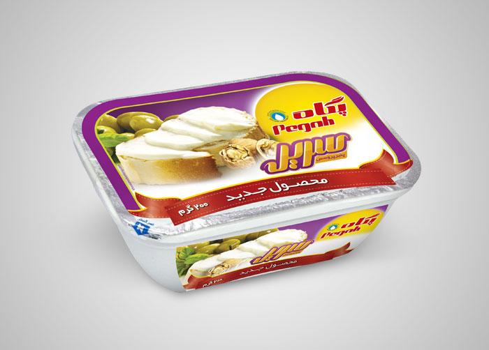 طراحی بسته بندی پنیر پروسس سریر