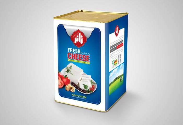 طراحی بسته بندی حلب 14کیلویی پنیرسفید زائر