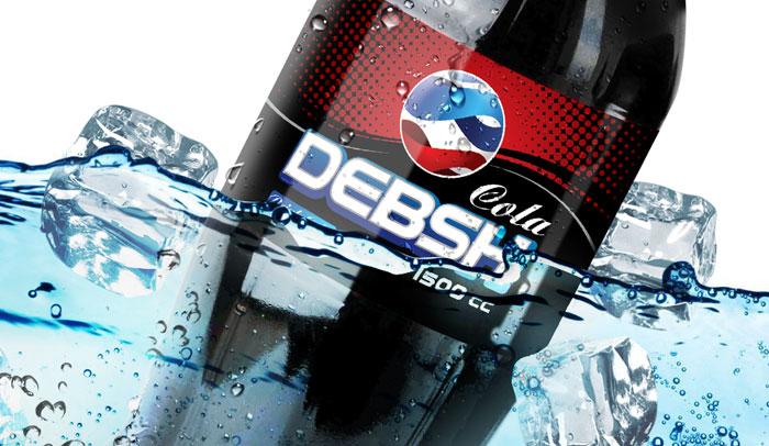 طراحی بسته بندی لیبل بطری نوشابه دبش کولاَ
