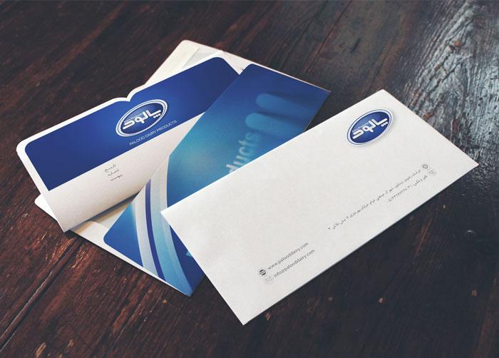 طراحی پاکت نامه فراورده های لبنی پالود