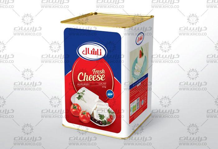 طراحی بسته بندی حلب 14کیلویی پنیرسفید تاشال