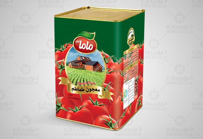 طراحی بسته بندی فلزی رب گوجه فرنگی مامالیس