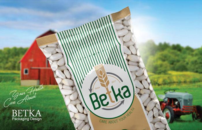 طراحی بسته بندی لفاف بسته بندی محصولات غذایی بتکا