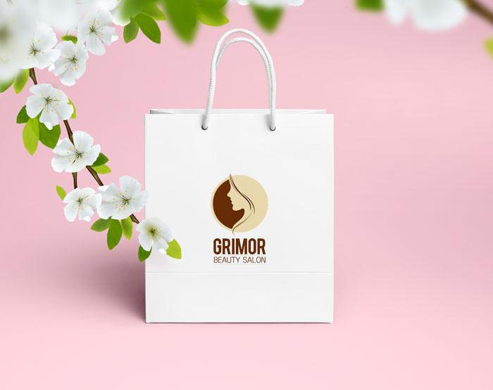 طراحی ساک تبلیغاتی سالن زیبایی گریمور