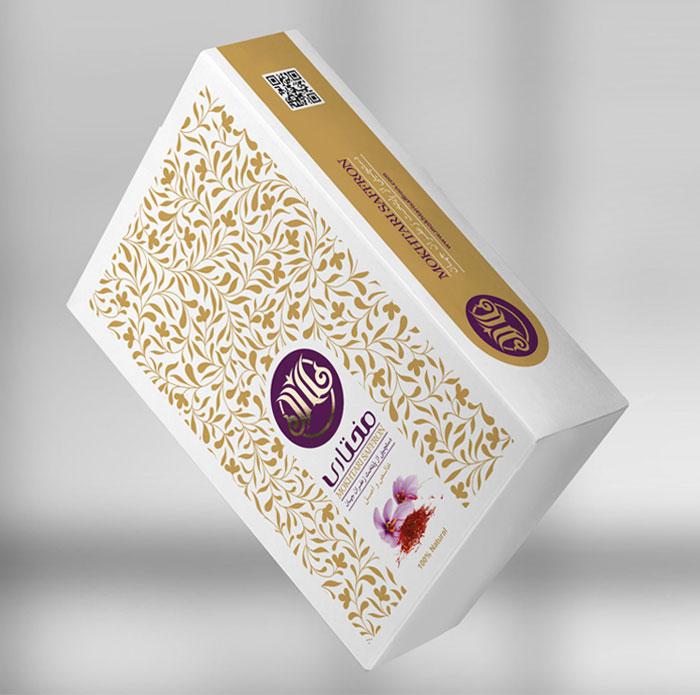 طراحی بسته بندی لوکس زعفران مختاری