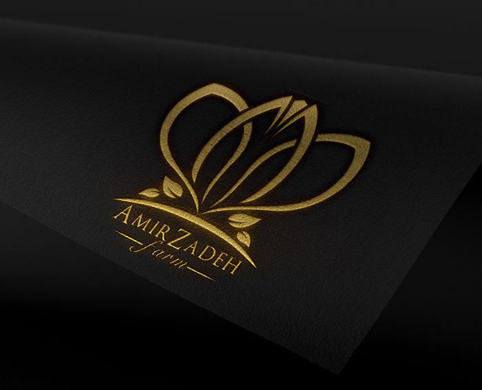 طراحی لوگوی زعفران امیرزاده